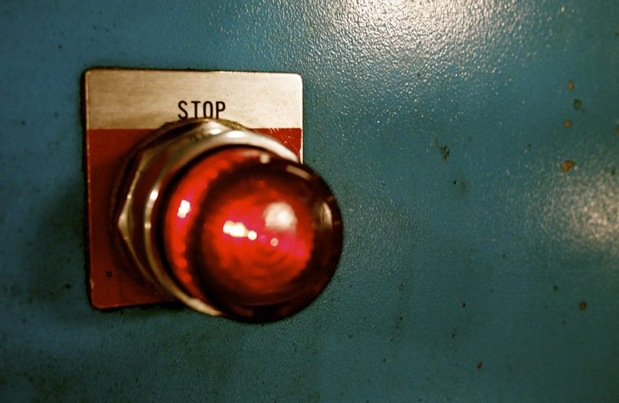 Stop Button in Manufacturing Plant